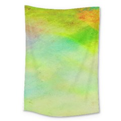 Abstract Yellow Green Oil Large Tapestry by BangZart