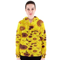 Beautiful Sunflowers Women s Zipper Hoodie by BangZart