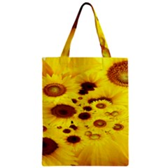 Beautiful Sunflowers Zipper Classic Tote Bag by BangZart