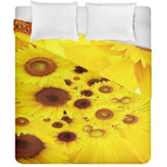 Beautiful Sunflowers Duvet Cover Double Side (california King Size) by BangZart