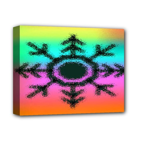Vector Snowflake Deluxe Canvas 14  X 11  by BangZart
