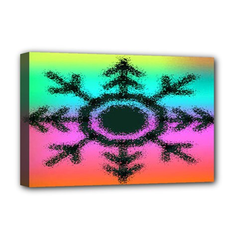 Vector Snowflake Deluxe Canvas 18  X 12   by BangZart
