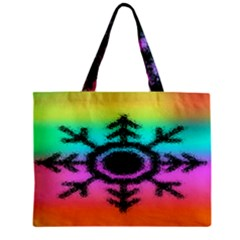 Vector Snowflake Zipper Mini Tote Bag by BangZart