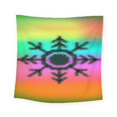 Vector Snowflake Square Tapestry (small) by BangZart