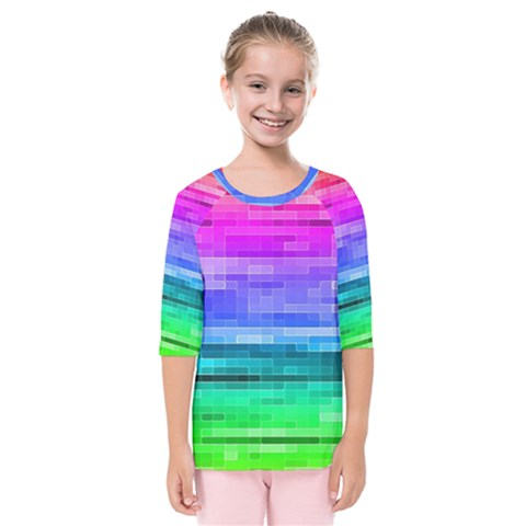 Pretty Color Kids  Quarter Sleeve Raglan Tee by BangZart
