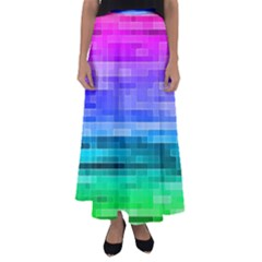 Pretty Color Flared Maxi Skirt