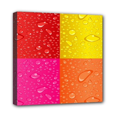 Color Abstract Drops Mini Canvas 8  X 8  by BangZart