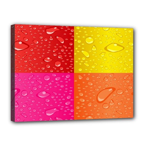 Color Abstract Drops Canvas 16  X 12  by BangZart