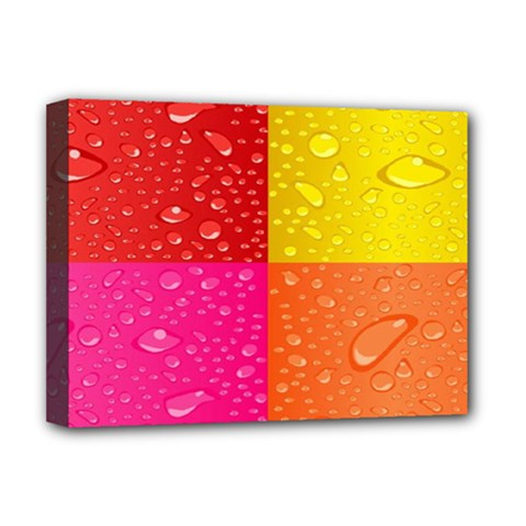 Color Abstract Drops Deluxe Canvas 16  X 12   by BangZart