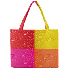Color Abstract Drops Mini Tote Bag by BangZart