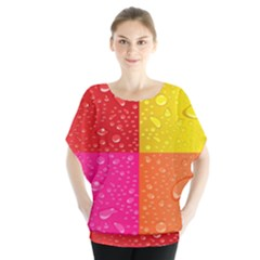 Color Abstract Drops Blouse by BangZart