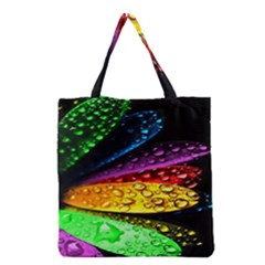 Abstract Flower Grocery Tote Bag by BangZart