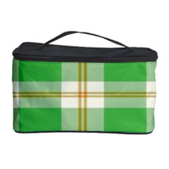 Abstract Green Plaid Cosmetic Storage Case by BangZart