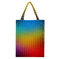 Blurred Color Pixels Classic Tote Bag by BangZart