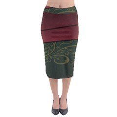 Beautiful Floral Textured Midi Pencil Skirt by BangZart