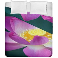 Pink Lotus Flower Duvet Cover Double Side (california King Size) by BangZart