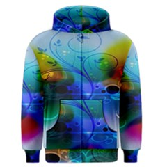 Abstract Color Plants Men s Zipper Hoodie by BangZart