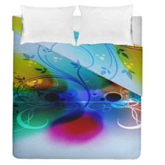 Abstract Color Plants Duvet Cover Double Side (queen Size) by BangZart