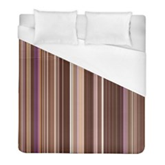 Brown Vertical Stripes Duvet Cover (full/ Double Size) by BangZart