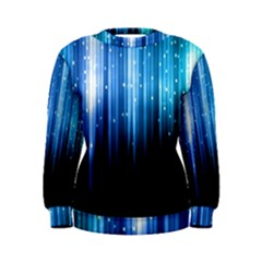 Blue Abstract Vectical Lines Women s Sweatshirt by BangZart