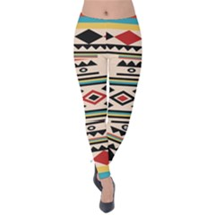 Tribal Pattern Velvet Leggings