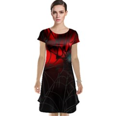 Spider Webs Cap Sleeve Nightdress by BangZart