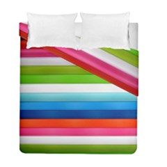 Colorful Plasticine Duvet Cover Double Side (full/ Double Size) by BangZart