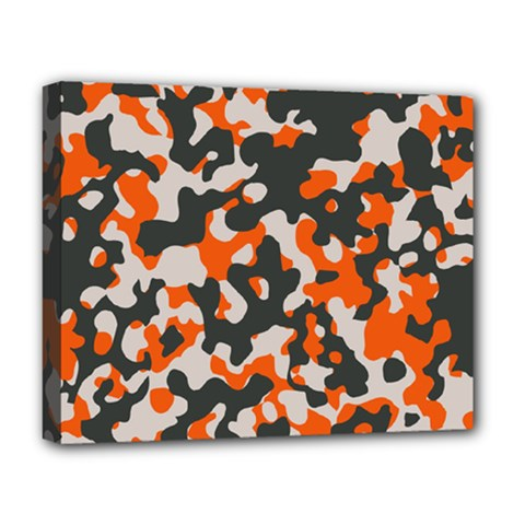Camouflage Texture Patterns Deluxe Canvas 20  X 16   by BangZart