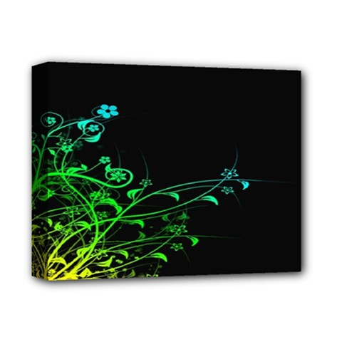 Abstract Colorful Plants Deluxe Canvas 14  X 11  by BangZart