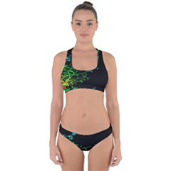 Abstract Colorful Plants Cross Back Hipster Bikini Set by BangZart