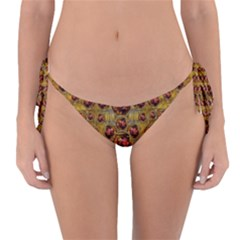 Angels In Gold And Flowers Of Paradise Rocks Reversible Bikini Bottom by pepitasart