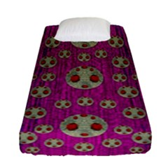Ladybug In The Forest Of Fantasy Fitted Sheet (single Size) by pepitasart