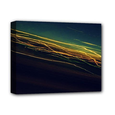 Night Lights Deluxe Canvas 14  X 11  by BangZart