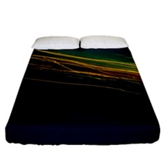 Night Lights Fitted Sheet (queen Size) by BangZart