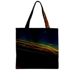 Night Lights Zipper Grocery Tote Bag by BangZart