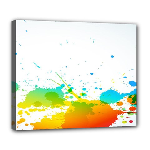 Colorful Abstract Deluxe Canvas 24  X 20   by BangZart
