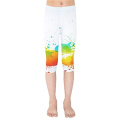 Colorful Abstract Kids  Capri Leggings  by BangZart