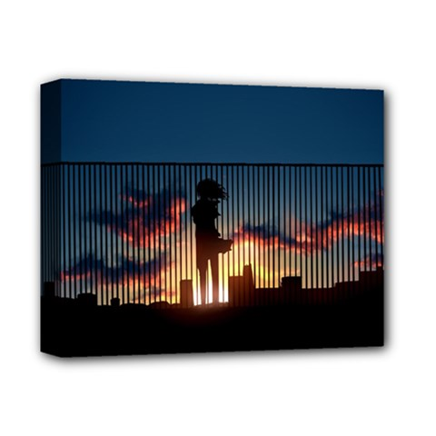 Art Sunset Anime Afternoon Deluxe Canvas 14  X 11  by BangZart