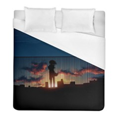 Art Sunset Anime Afternoon Duvet Cover (full/ Double Size) by BangZart