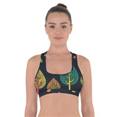 Vector Color Tree Cross Back Sports Bra