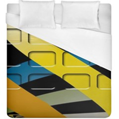 Colorful Docking Frame Duvet Cover (king Size) by BangZart