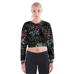 Sparkle Design Cropped Sweatshirt by BangZart