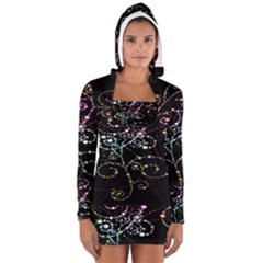 Sparkle Design Women s Long Sleeve Hooded T Shirt by BangZart