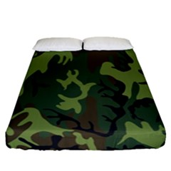 Military Camouflage Pattern Fitted Sheet (queen Size) by BangZart