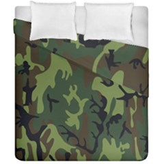 Military Camouflage Pattern Duvet Cover Double Side (california King Size) by BangZart