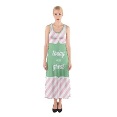 Today Will Be Great Sleeveless Maxi Dress by BangZart