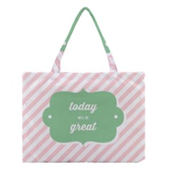 Today Will Be Great Medium Tote Bag by BangZart