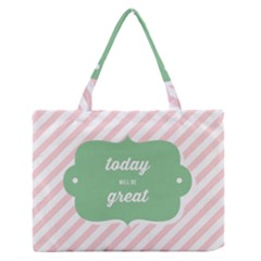 Today Will Be Great Medium Zipper Tote Bag by BangZart