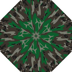 Army Green Camouflage Hook Handle Umbrellas (small) by BangZart