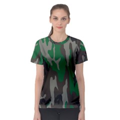 Army Green Camouflage Women s Sport Mesh Tee